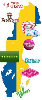 Svenska casinon på karta
