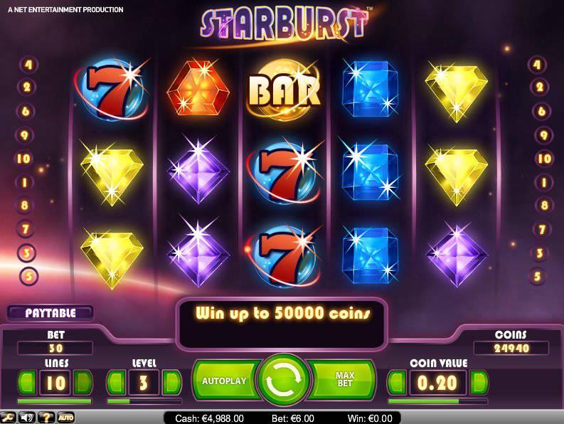 100 freespins på Starburst