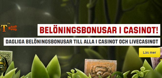 unibets casino bonus daglig
