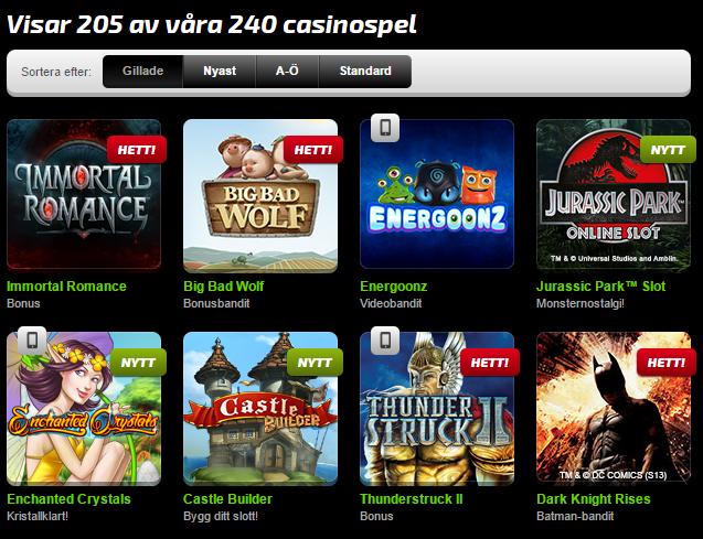 mobilbet-casinospel-utbud