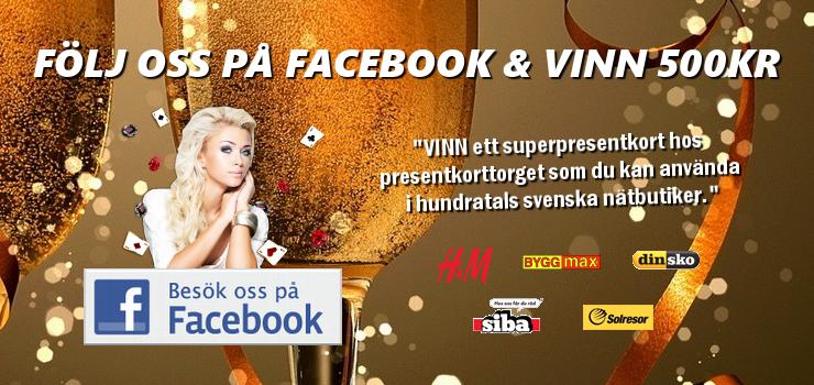 följ oss på facebook och vinn 500kr