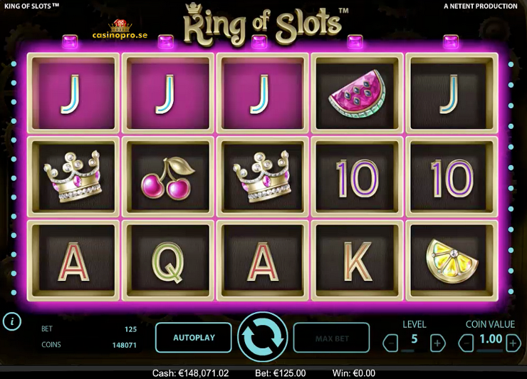 king of slots spel