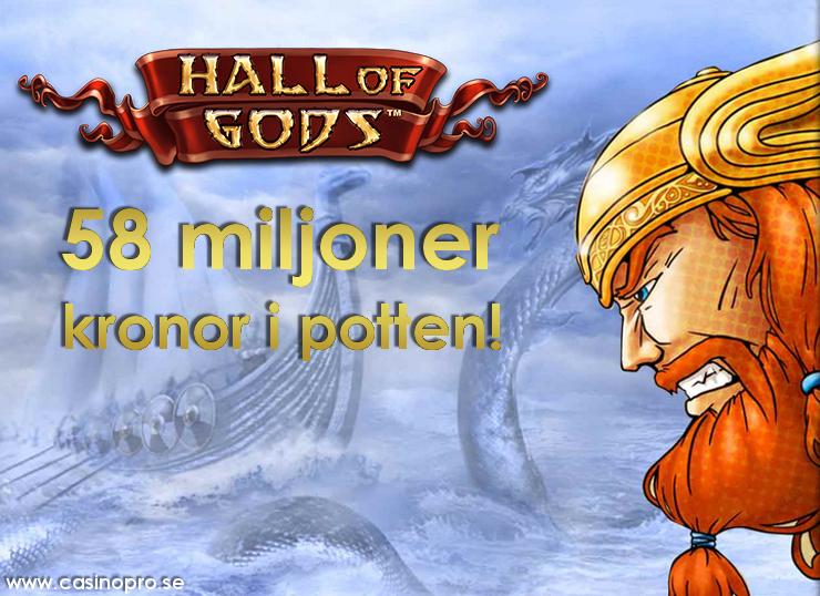hall of gods jackpotten