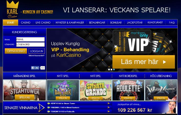 karl casino veckans spelare