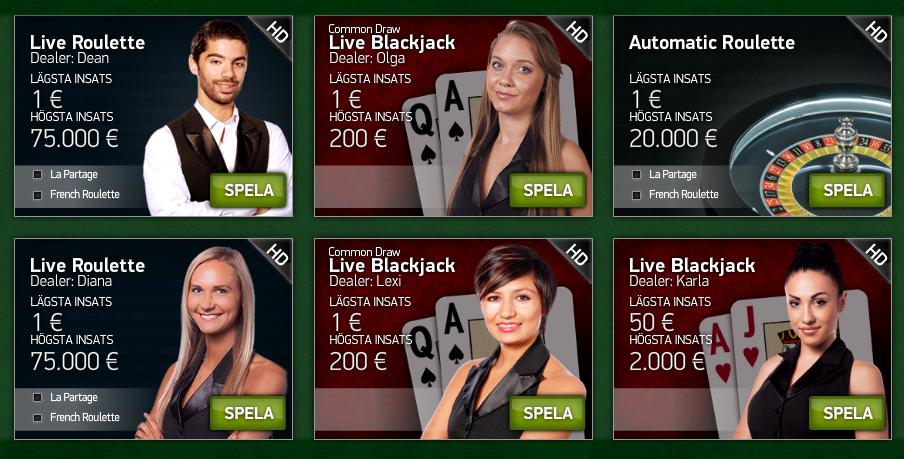 live casino hos casinosaga