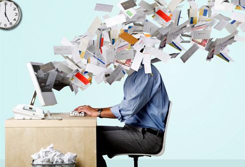 för många email
