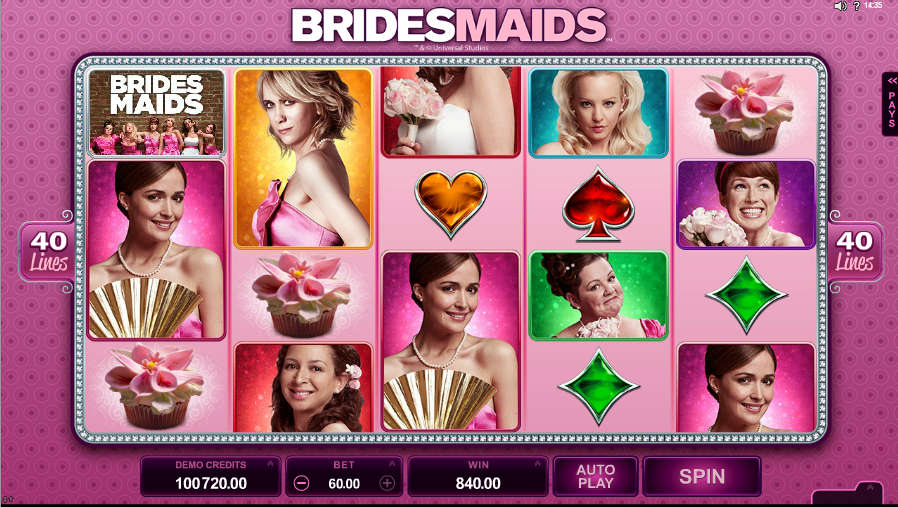 bridesmades slot