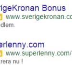 Google låter nu vissa casino aktörer att prova deras annonssystem AdWords!
