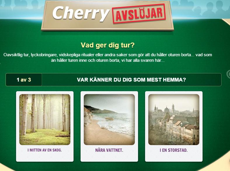cherry avslöjar