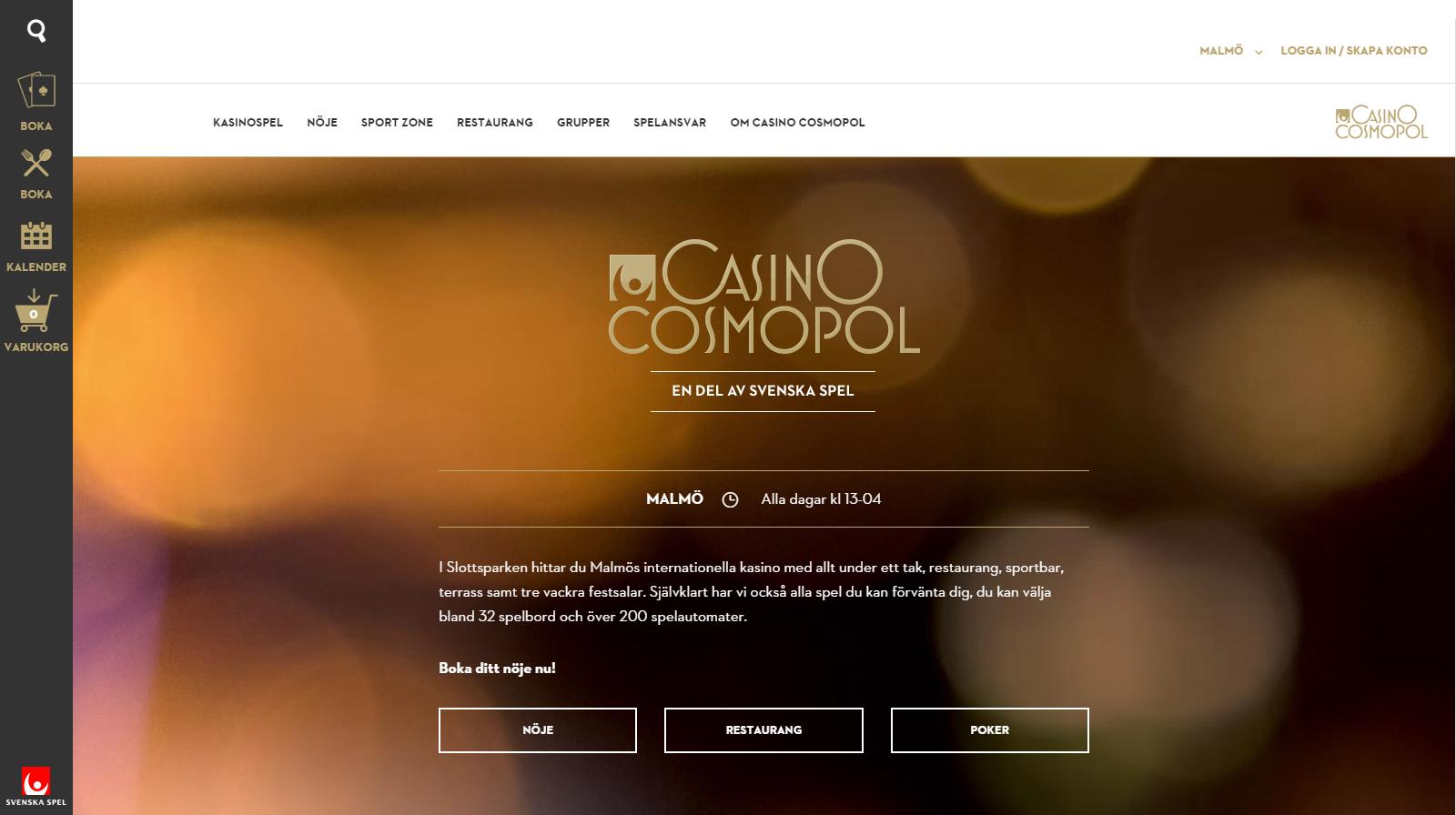 casino cosmopol nya sidan