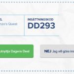 Dagens casino deal – Bonuskoden som ger dig 50 freespins på Gonzos Quest!