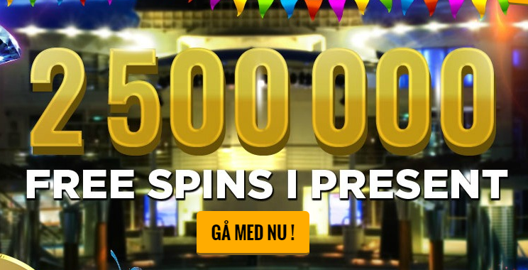 2,5 miljoner freespins i casinocruise