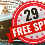 29 freespins direkt + nya snurr varje dag hela månaden