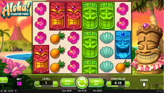 aloha cluster pays freespins