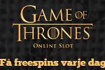 Klara av 5 uppdrag i Game of Thrones och få 2072 freespins utan omsättning
