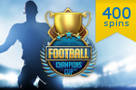 100 free spins i nya NetEnt spelet Football Champions Cup plus 300 extra snurr