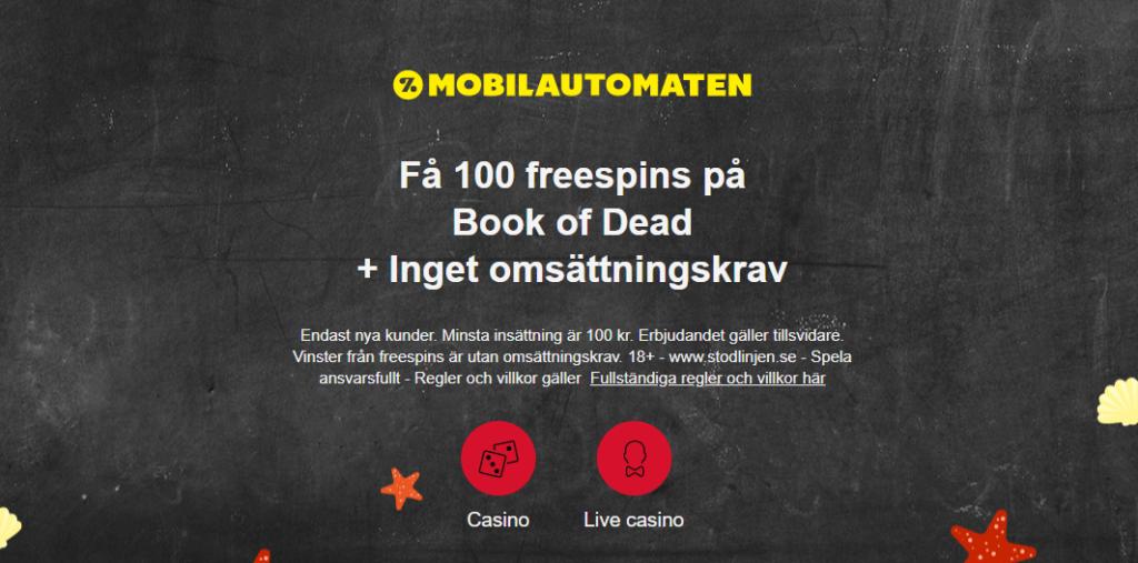 mobilautomaten 100 cashspins