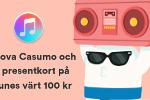 Just nu! Registrera dig hos Casumo  och få ett presentkort på iTunes direkt!