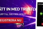 Upp till 500 freespins utan omsättning med Trustly i Guts casino