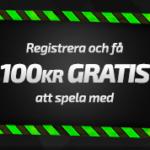 100kr gratis utan insättning för både casino & sport spelare