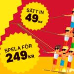 Sveriges minsta insättningsbonus men samtidigt även med lägst omsättning