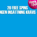 Ny casino bonus hos VeraJohn & 20 exklusiva free spins utan insättning