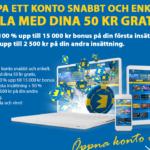 Exklusivt: 50kr utan insättning & 17.500kr i bonus hos KarlCasino