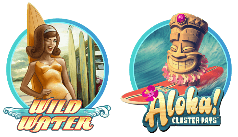 two slots logos aloha wild water