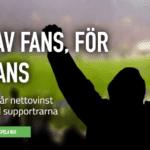 Fansbet ger bort 50% av sina vinster till lokala sportklubbar