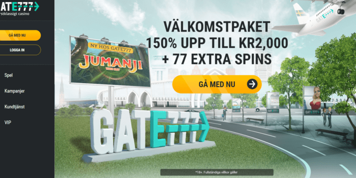 Ny bonus: Hämta ut 2000kr extra och 77 free spins i bonus hos Gate777
