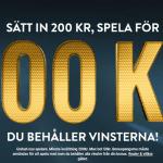 200kr i insättningsbonus med endast 1x i omsättningskrav hos No Account Casino
