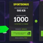 Bonuskoder: Hämta ut 350kr + 50 freespins eller 1500kr & 50 freespins