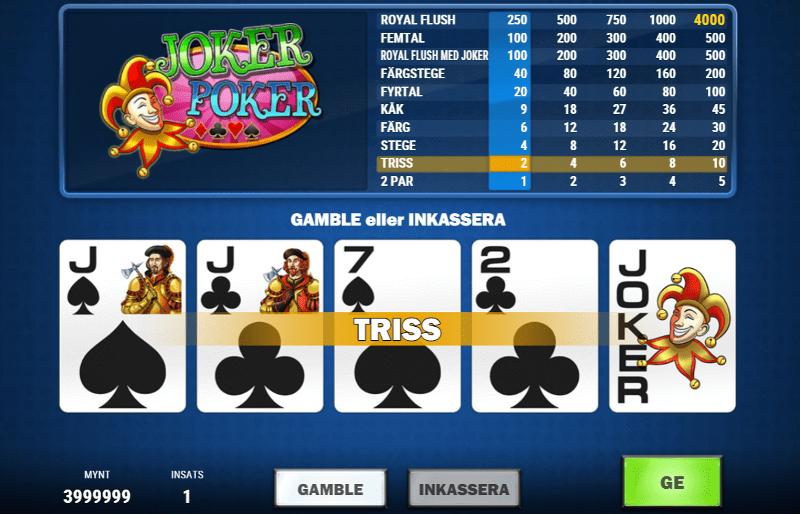Joker poker vinst