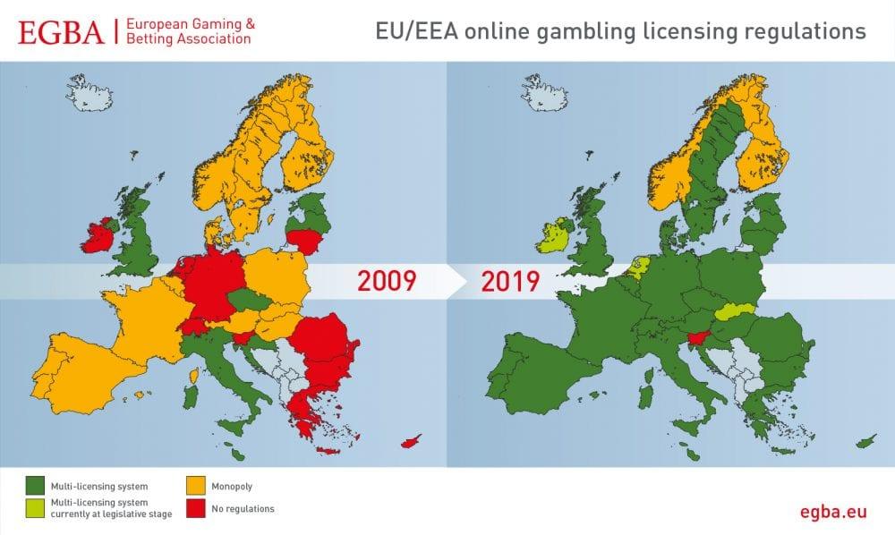 gamling licens map