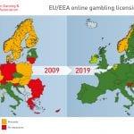 Vilka EU-länder har ett licensierat system för online casinon & vilka har inte det?