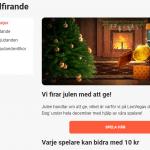 """Spela Julspel hos LeoVegas → Så skänker LeoVegas 250.000kr till """"Min Stora Dag"""""""
