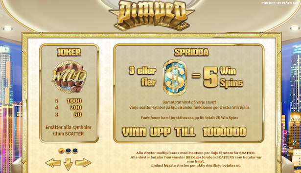Pimped slots freespins läge